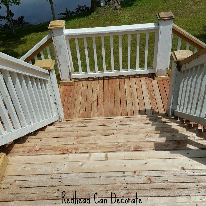 Deck BEFORE Stain