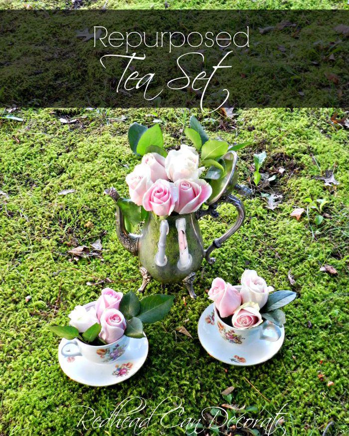 Repurposed Tea Set