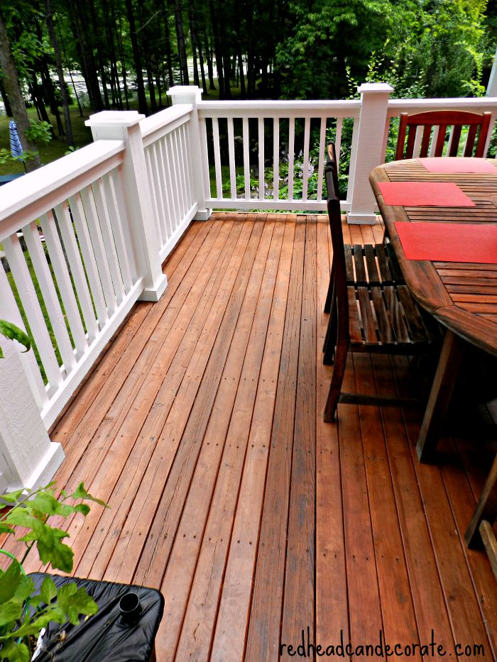 Thompson S Waterseal Deck Makeover Redhead Can Decorate