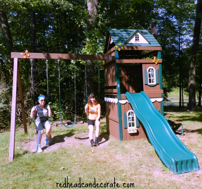 Easy Swing Set Makeover