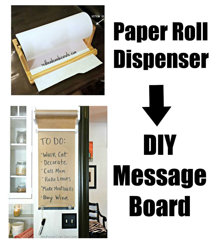 Repurposed Paper Roll Dispenser