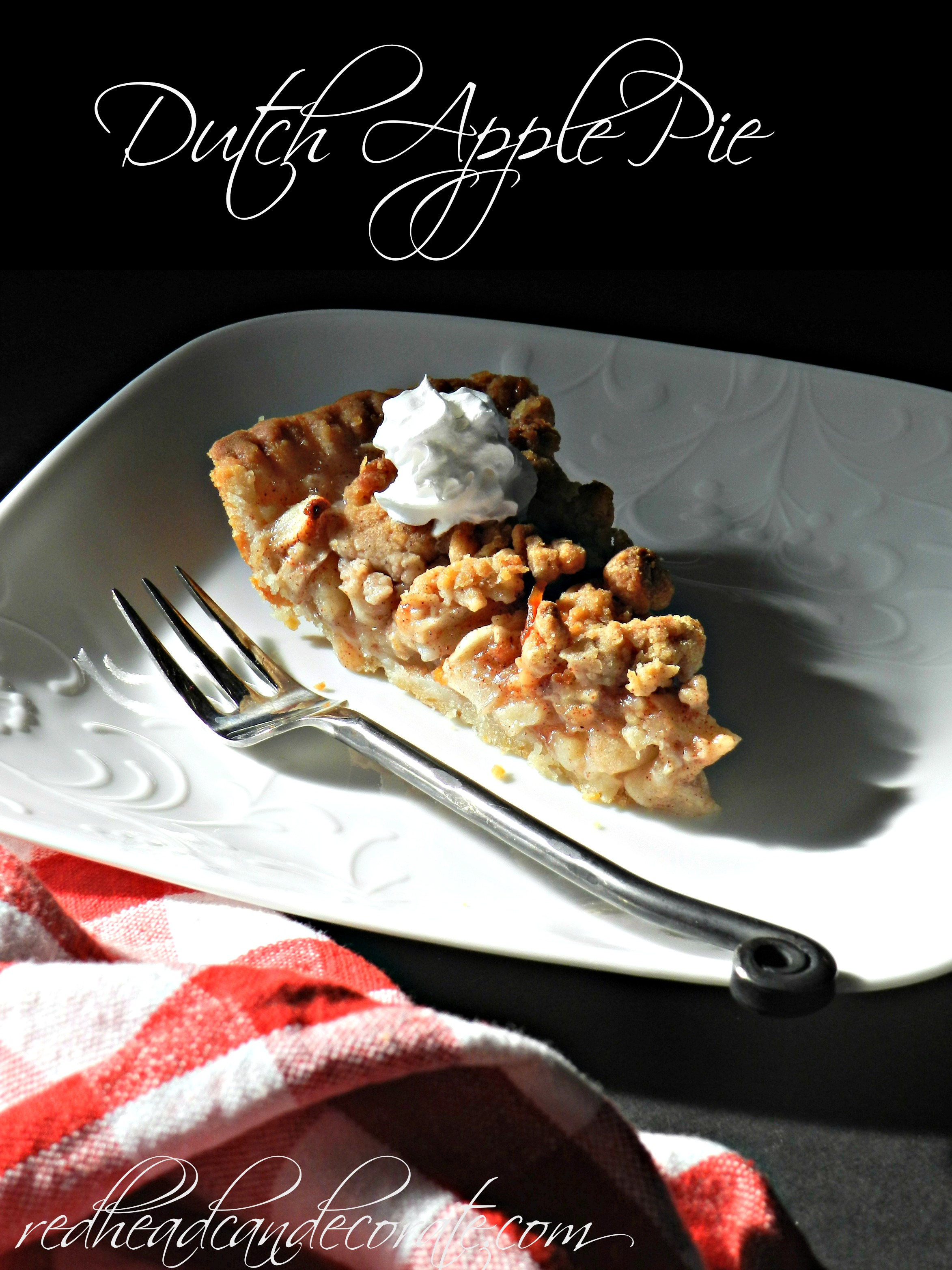 Best Dutch Apple Pie w: easy crust Recipe