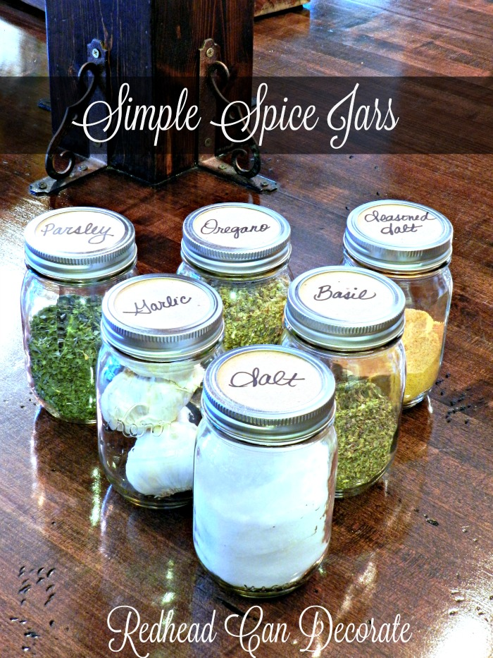 DIY Simple Spice Jars