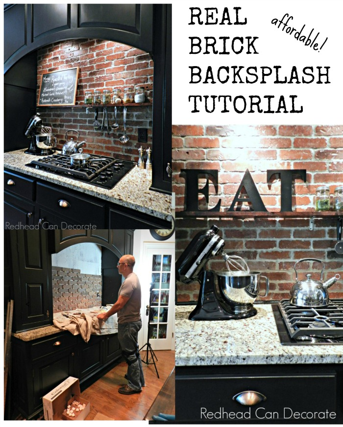 Real Brick Backsplash Tutorial 2