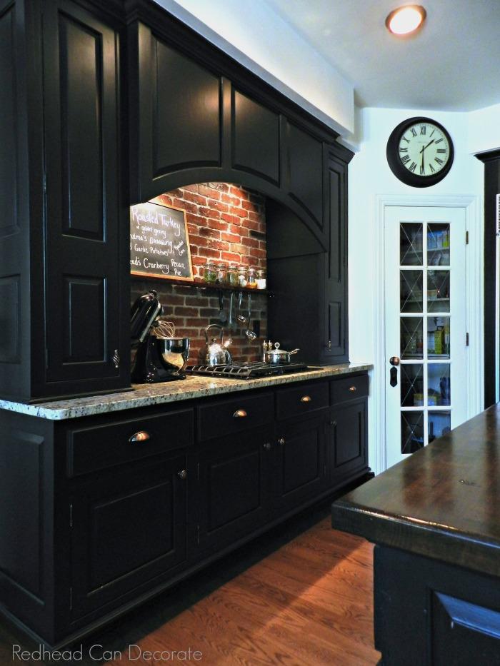 Kitchen Wall Brick Backsplash