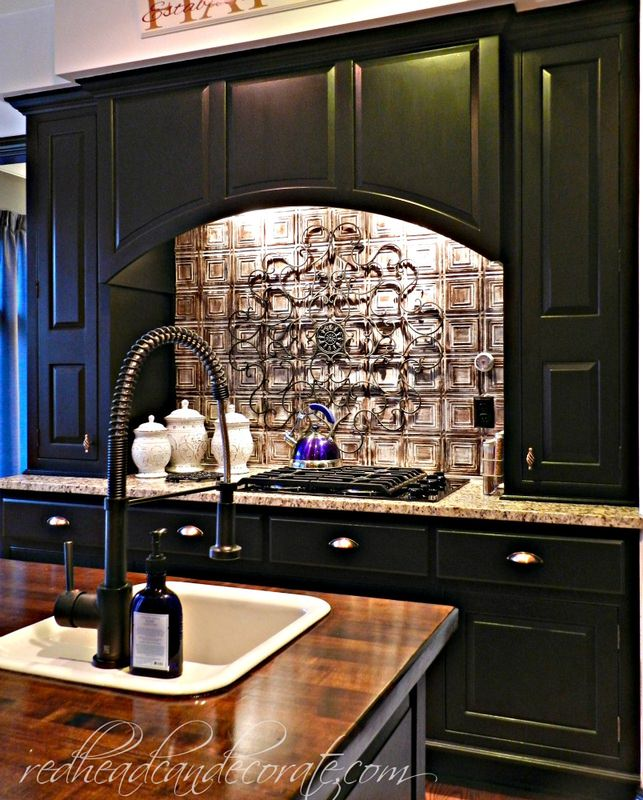 Backsplash For Black Cabinets: Redhead Can Decorate