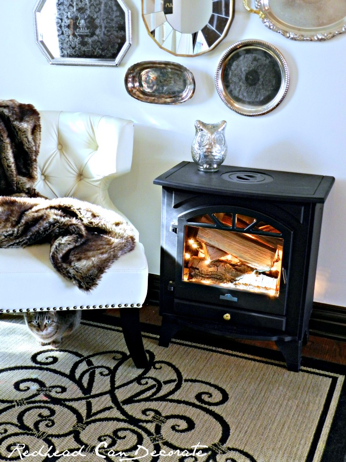 Faux Fireplace Idea