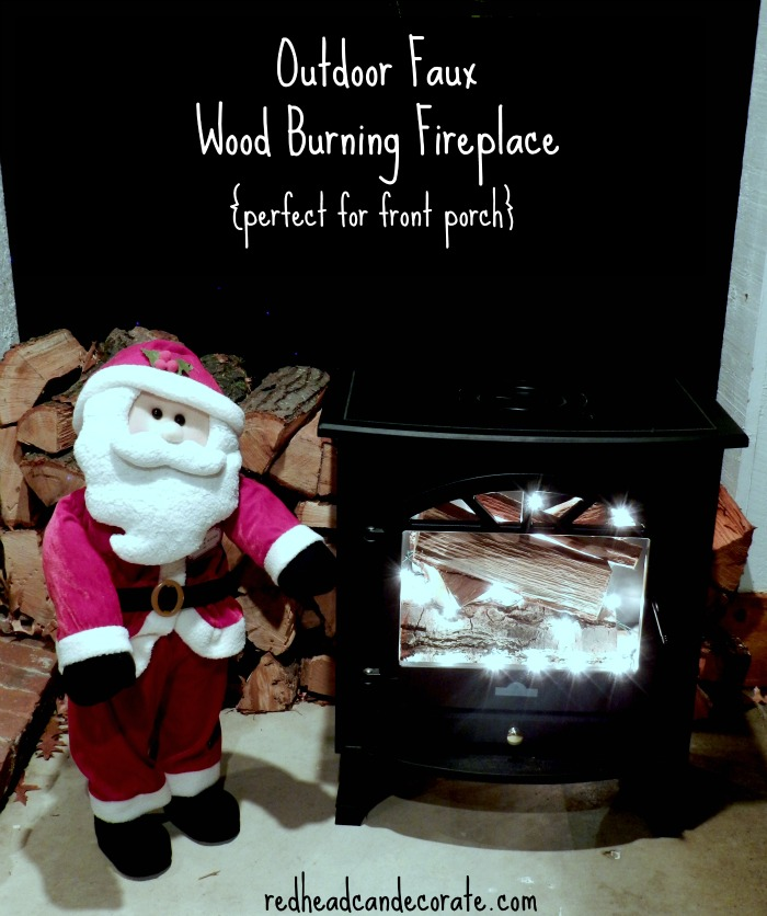 Front Porch Wood Burning Fireplace