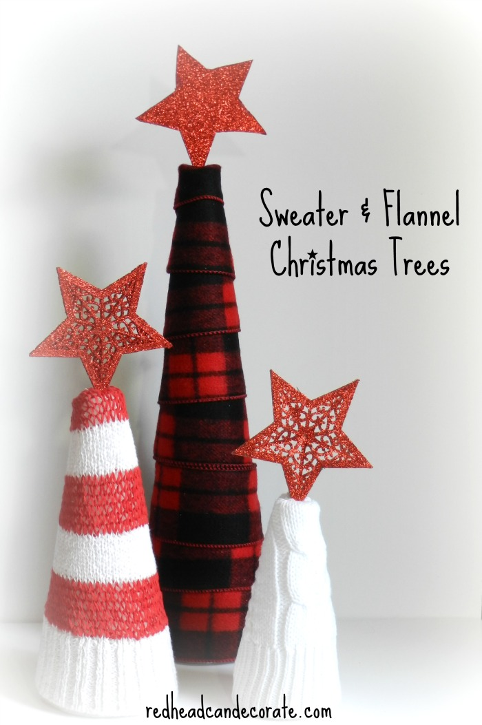 Sweater & Flannel Christmas Trees