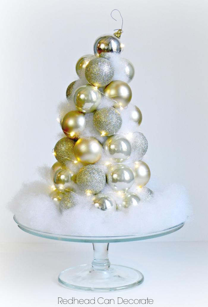 Dollar Store Ornament Tree