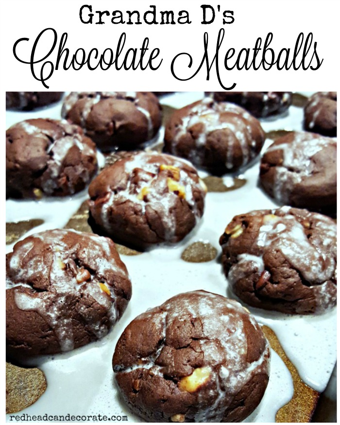 Grandma D's Chocolate Meatballs