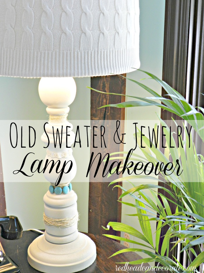 Old Sweater & Jewelry Makeover