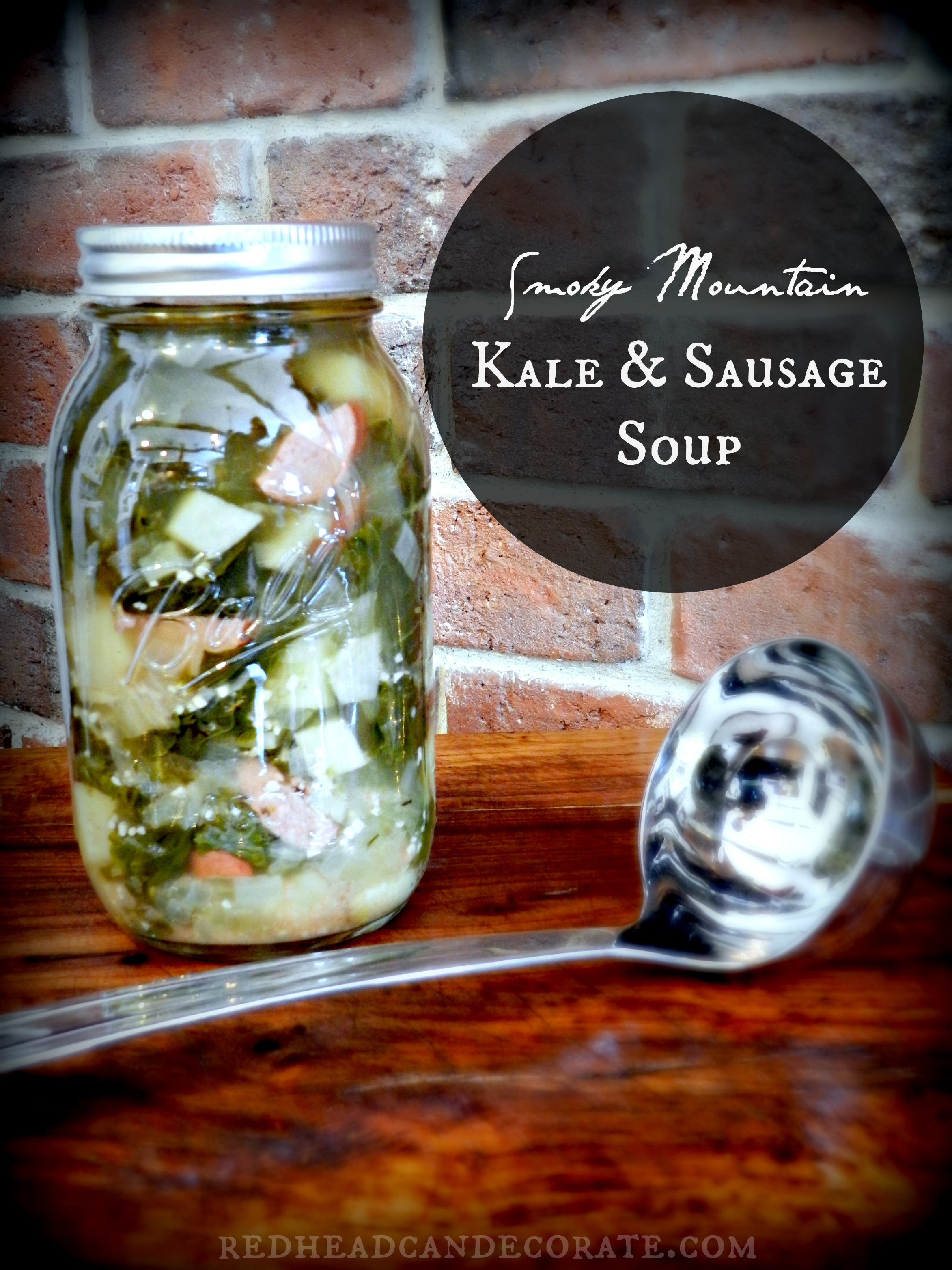 Smoky Mountain Kale & Sausage Soup-yum!
