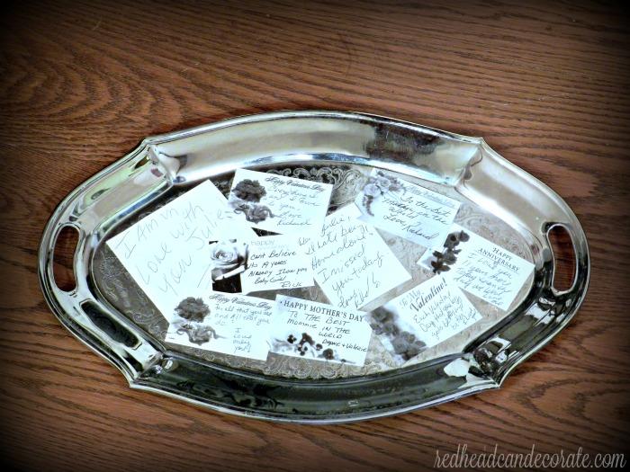 Love Letter Platter Idea