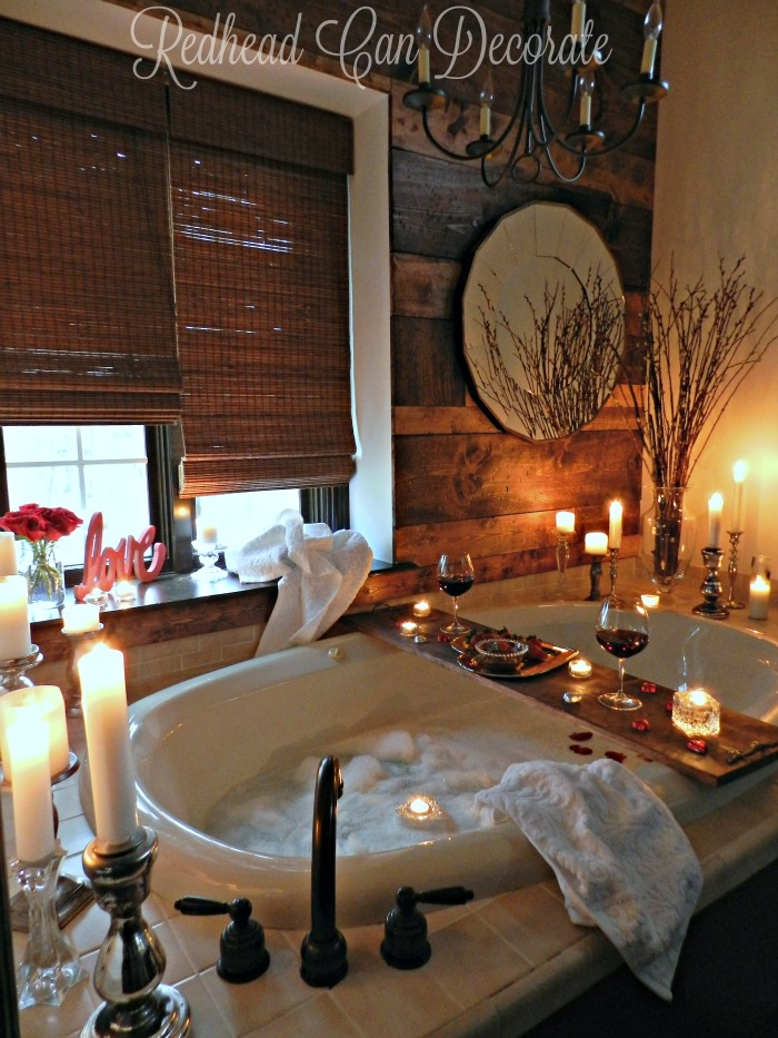 Romantic bathroom date redhead can decorate for Bathroom ideas for couples
