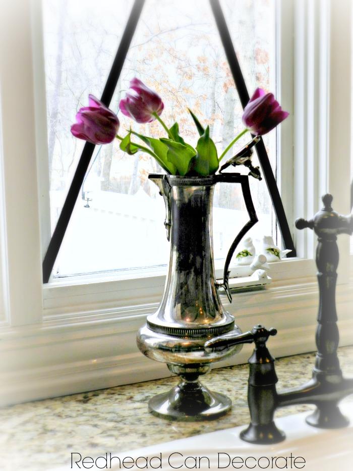 Silver Tea Pot Vase