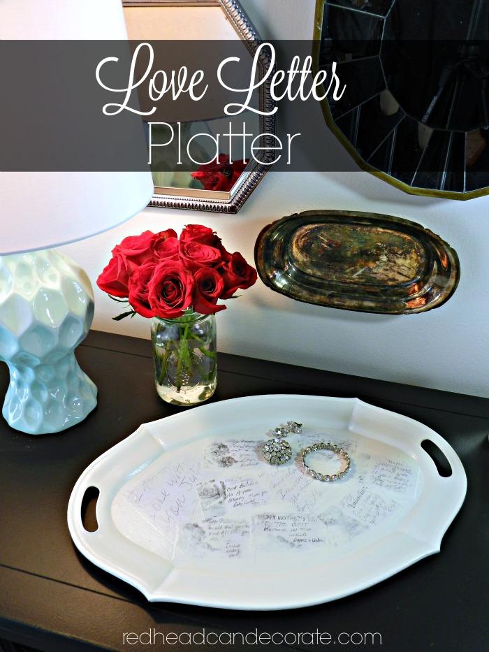 Thrift Store Platter Makeover