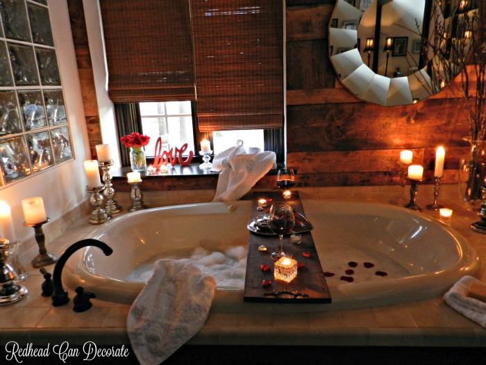 Romantic Bathroom Date - Redhead Can Decorate