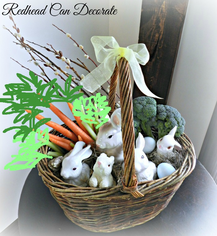 Bunny Easter Basket w: drawing