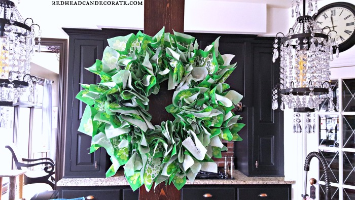 Easy Napkin Wreath for St. Patrick's Day