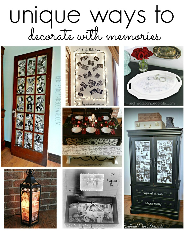 Unique Ways to decorate with memories