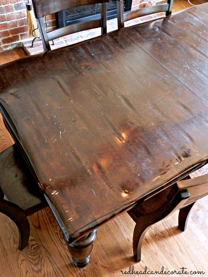 Before (refinished table)