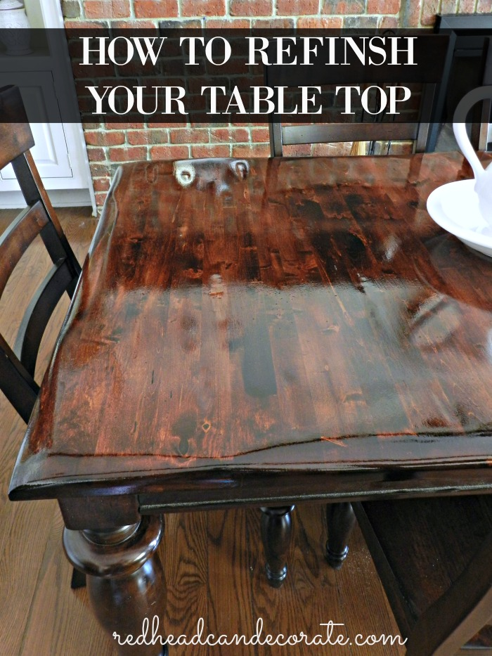 diy refinished dining table redhead can decorate. Black Bedroom Furniture Sets. Home Design Ideas