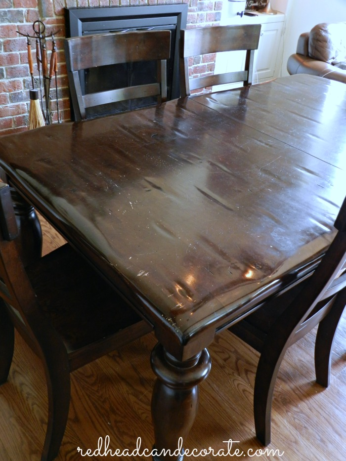 Table Before Refinished