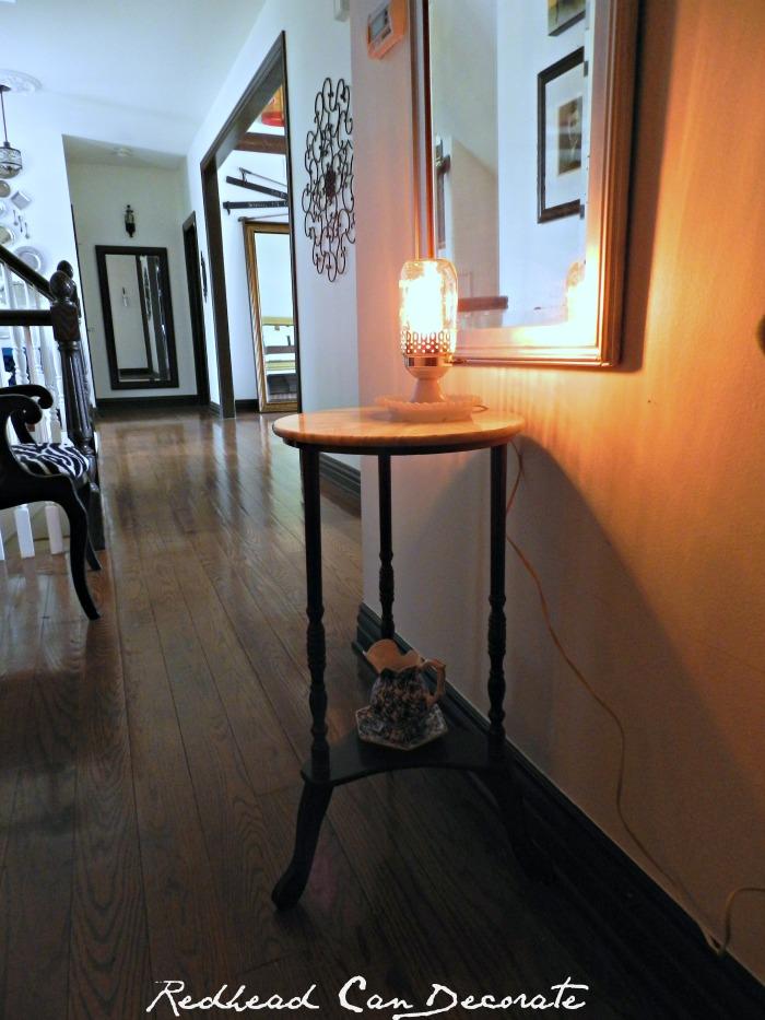 Vintage Mason Jar Lamp Idea