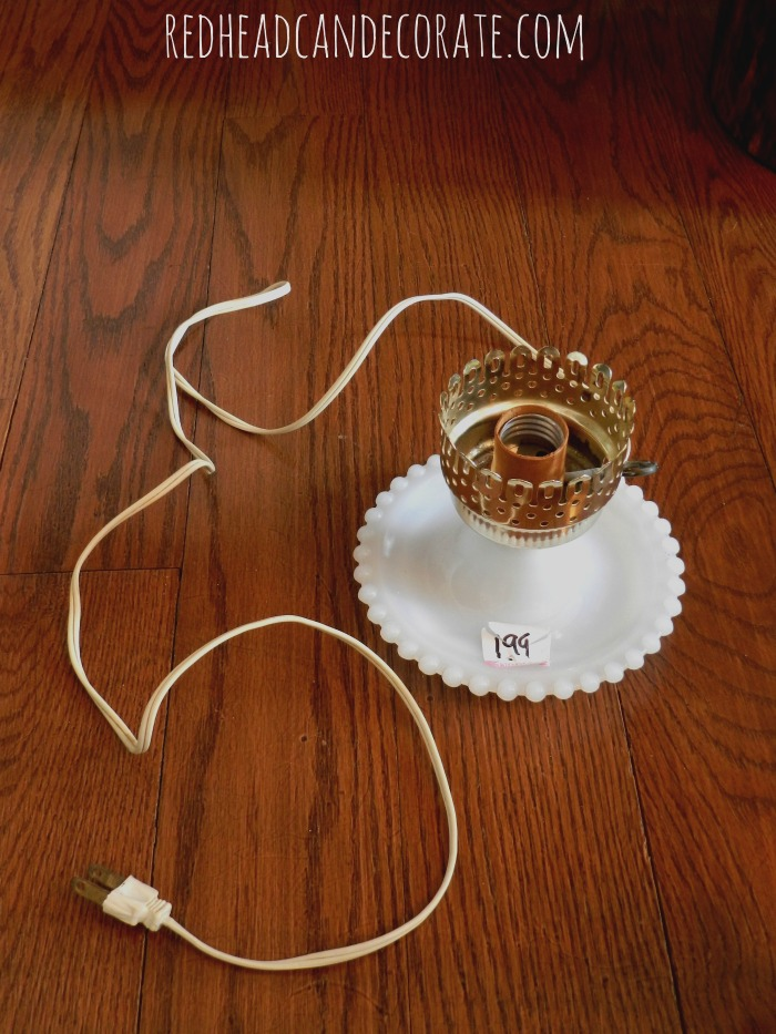 hobnail vintage lamp