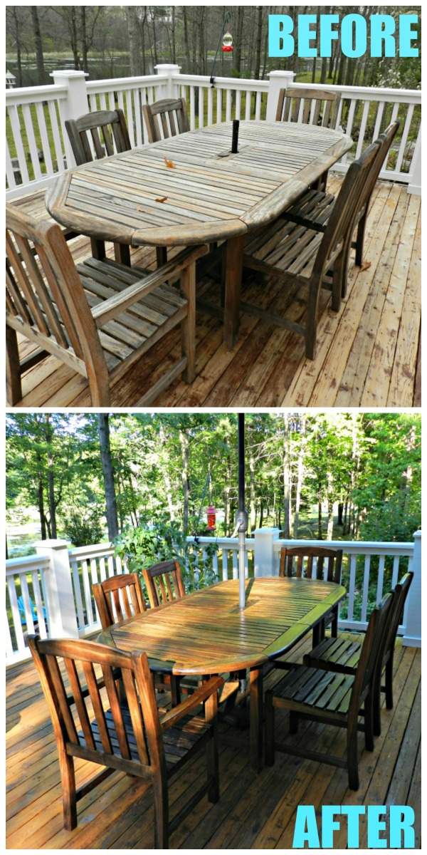 Amazing teak table makeover!