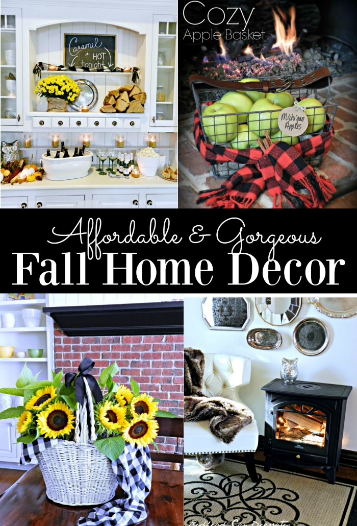 Affordable fall home decor redhead can decorate for Affordable home accents