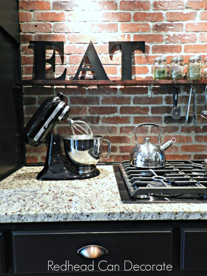 Beautiful Brick Backsplash Tutorial