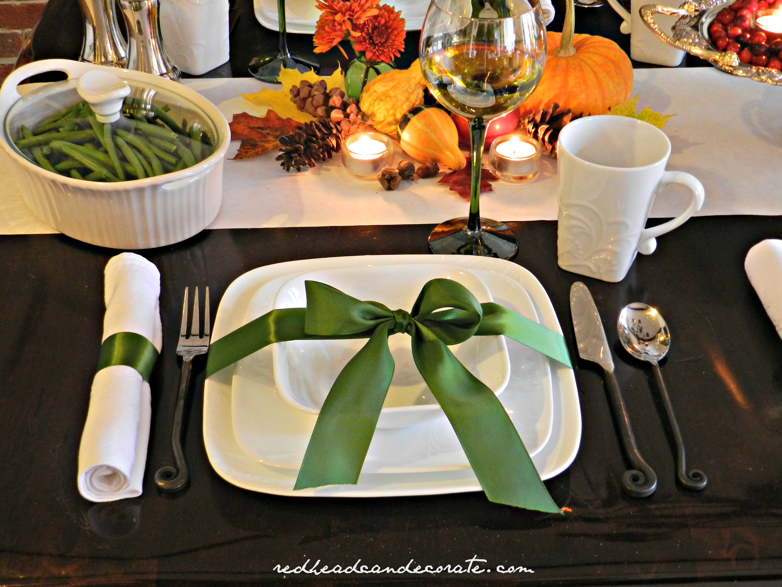 Beautiful Fall Harvest Tablescape with Corelle & Corningware