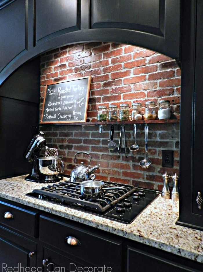 DIY Brick Backsplash