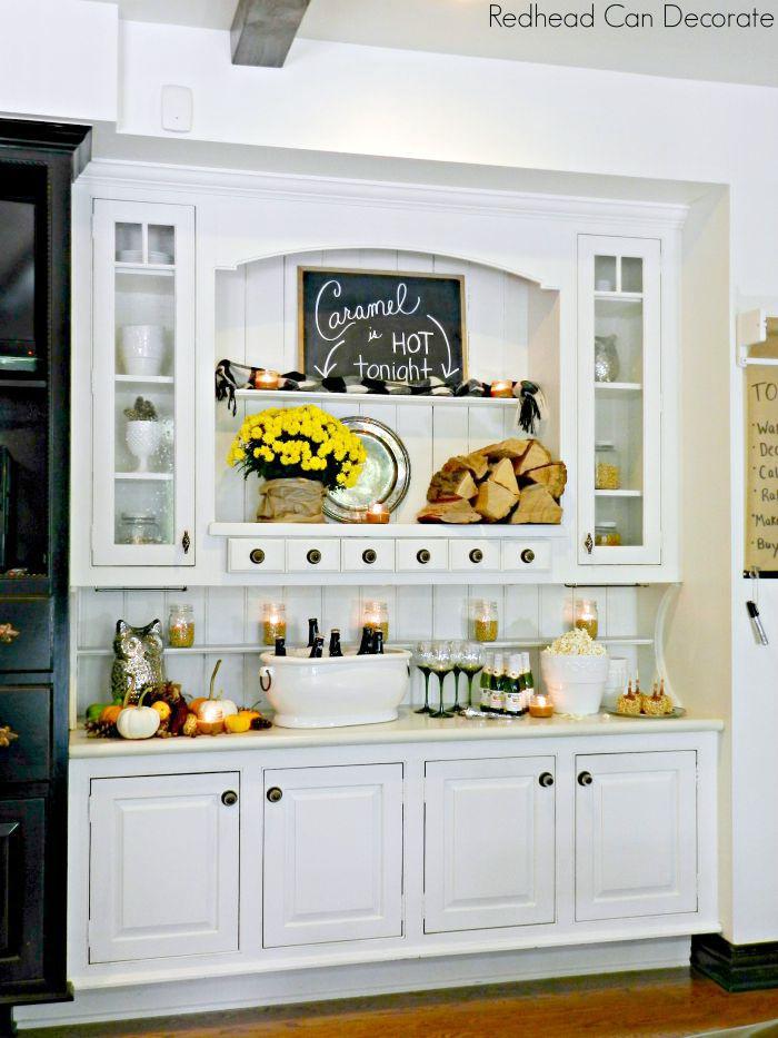 Built In Kitchen Cabinet Makeover, Kitchen Cabinet Hutch Ideas