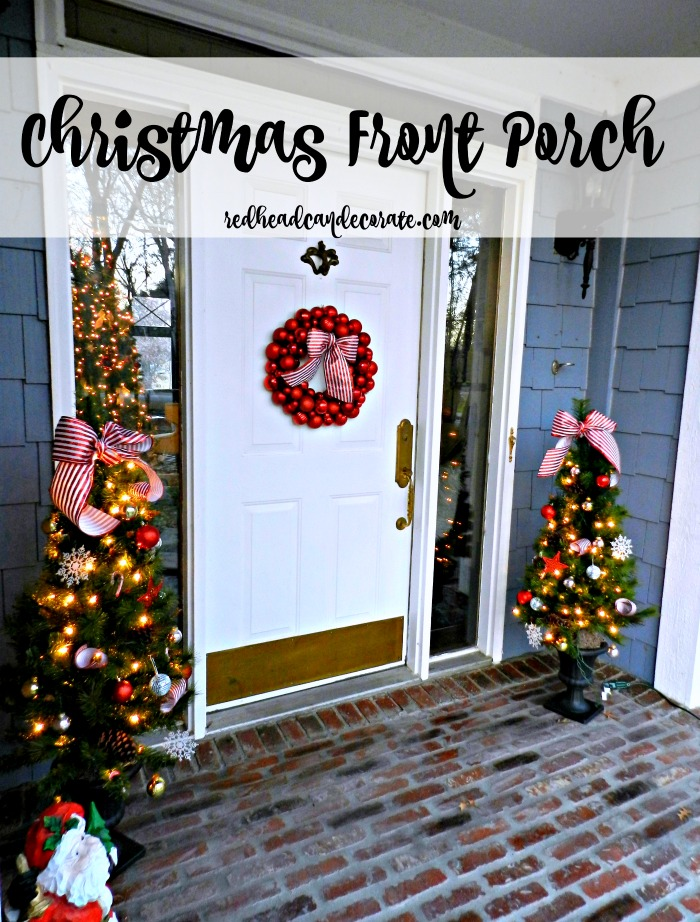 Michigan woman tries Fresh Pine Garland for the first time for her Christmas Porch. She explains how to hang it.