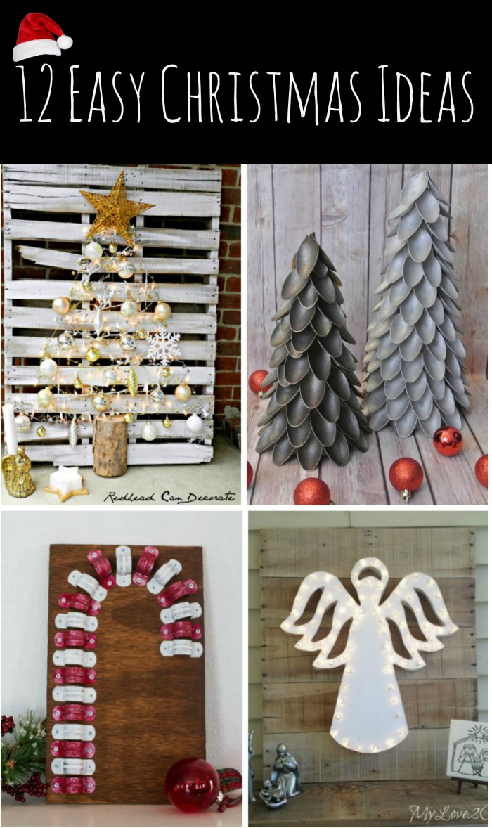 You won't want to miss these clever & easy Christmas ideas from the DIY Housewives! The full instructions are included.
