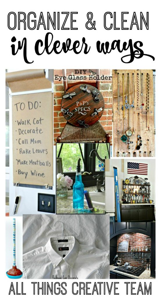 These are such cool ideas to get organized and clean!