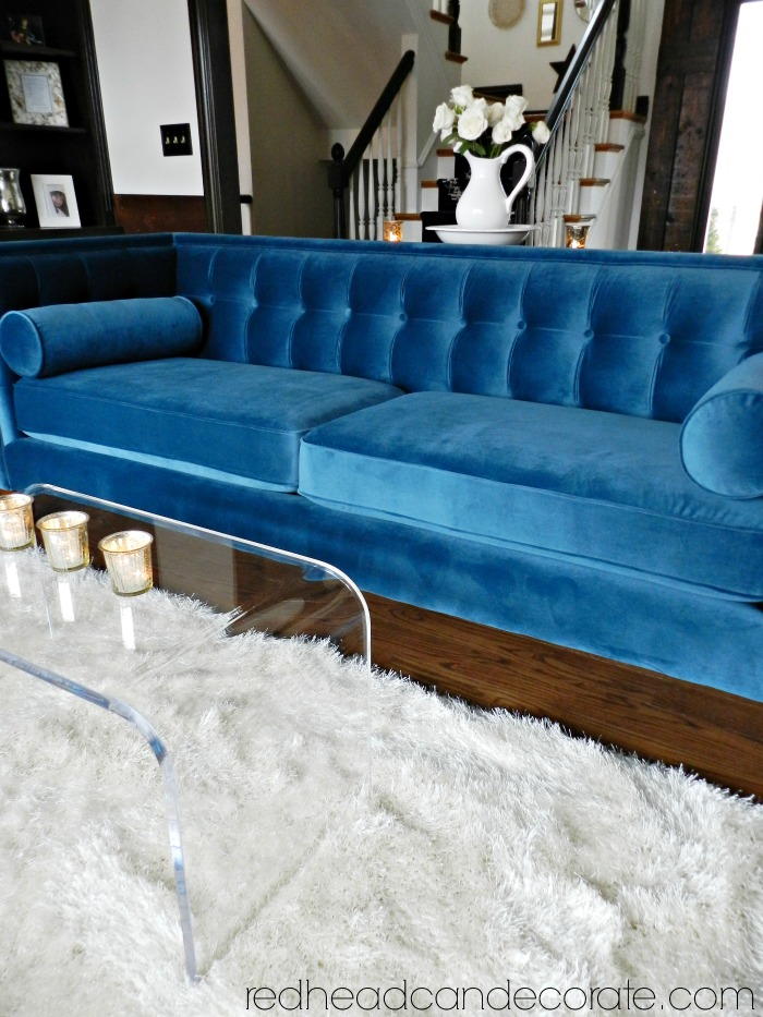 Excellent My Teal Blue Velvet Sofa Download Free Architecture Designs Photstoregrimeyleaguecom