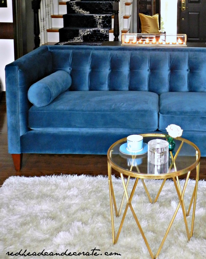 This Teal Blue Velvet Sofa Is Gorgeous There Are More Colors Too
