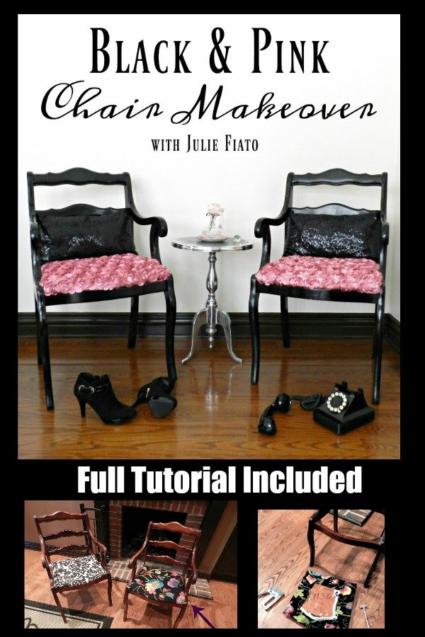 I can't believe this chair makeover! Who knew reupholstering was so easy?