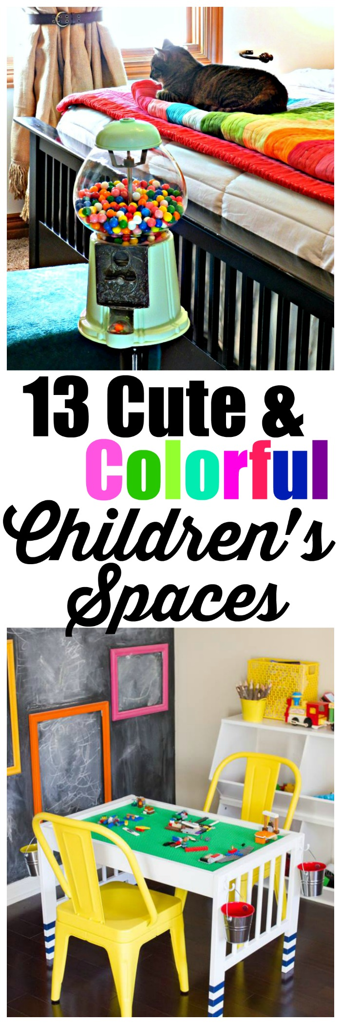 There are such cute colorful children's spaces in this article, I had to pin for later!