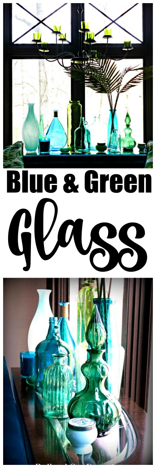 Beautiful blue & green glass bottle decorating ideas I never thought of!