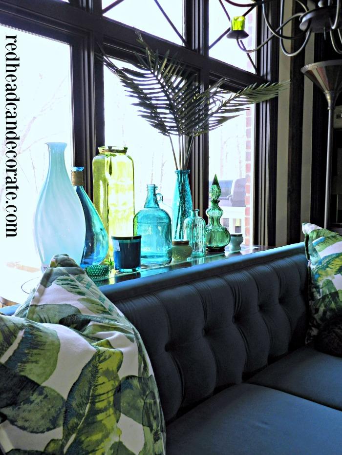 Beautiful Blue & Green Bottle Decorating