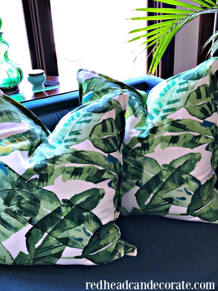 Palm Leaf Pillows