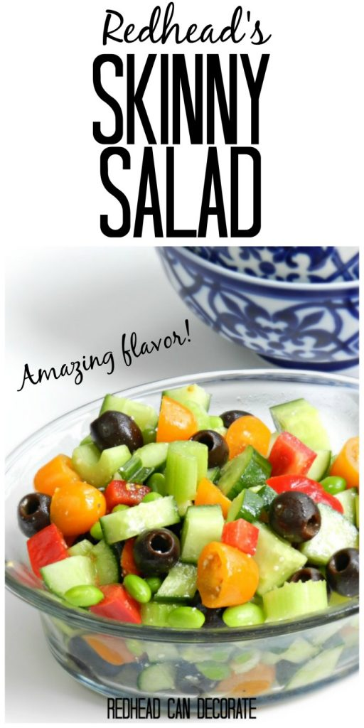 Redhead's Skinny Salad is one of the best salads I have ever made. She uses her Olive Garden Salad hack dressing and it is AMAZING.