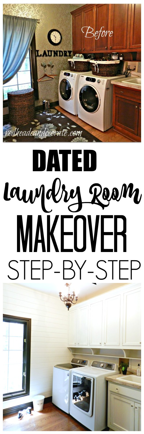 This laundry room makeover is amazing! Look at how big it looks now!