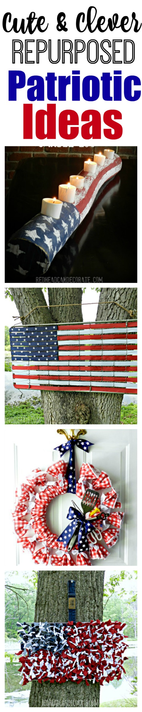 These repurposed patriotic ideas are so creative and fun!
