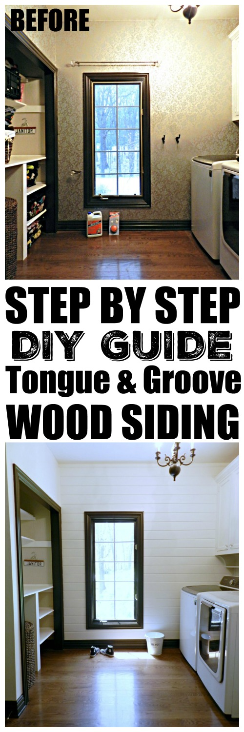 Step by step guide to tongue-and-groove wood siding!